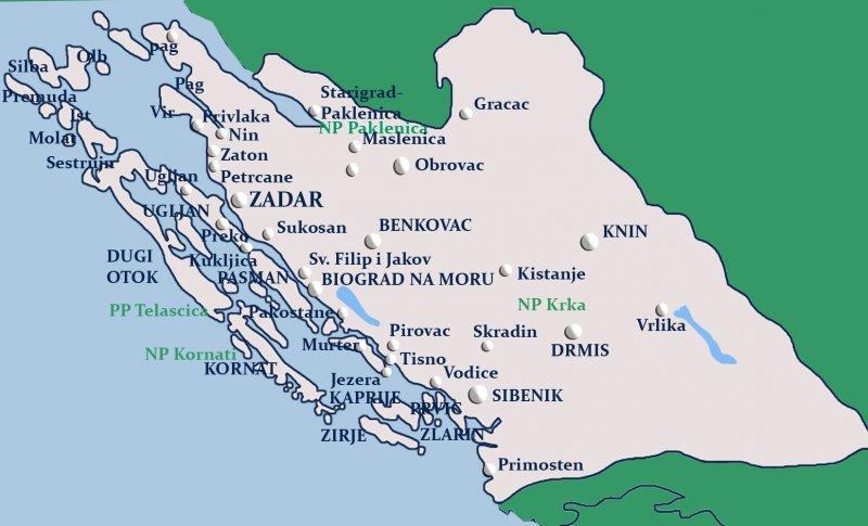 Starigrad Paklenica Mapy Chorwacji